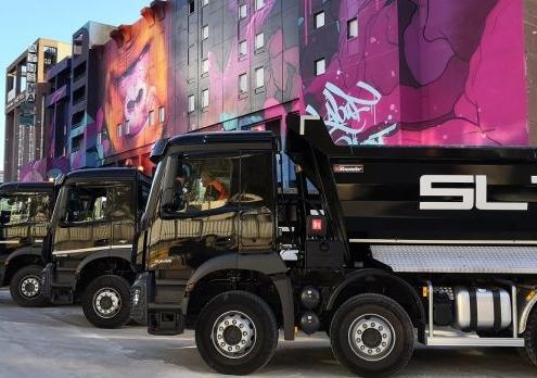 Camions SLTP - Gare de la Part-Dieu